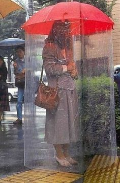 Now You Can Be Anti Social and Stay Dry!  Stay out of my bubble.