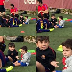 Mateo: Papa said you can't go unless you take me *Tiago looks at Leo*: Bruh, really? Lionel Messi Barcelona, Barcelona Team, Shakira, Lionel Messi Family, Antonella Roccuzzo, Leo, Argentina National Team, Club World Cup, Messi 10
