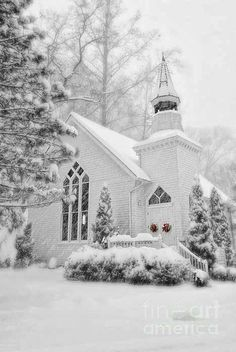 holiday, winter wonderland, snow, beauti church, white christmas, white church, place, countri church, country churches
