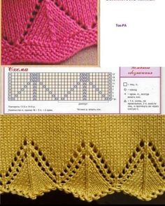 Discover thousands of images about Free Knitting Patterns - Lace Knit Stitch Pattern Lace Knitting Patterns, Knitting Stiches, Knitting Charts, Lace Patterns, Easy Knitting, Crochet Stitches, Stitch Patterns, Knit Crochet, Knitted Baby