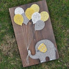 DIY String Art Crafts Kit - Sunflower Crafts Kit comes with the highest quality embroidery floss, HAND sanded and HAND stained wood board, metallic wi. String Art Diy, String Crafts, Crafts To Do, Arts And Crafts, Sunflower Crafts, String Art Patterns, Doily Patterns, Creation Deco, Ideias Diy