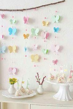 Decoracion para cumple de #nena #niña #mariposas
