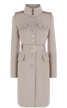 Karen Millen Ultimate Military Coat in Beige (stone)