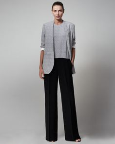Diamond-Print Boyfriend Jacket & Jumpsuit by Stella McCartney at Bergdorf Goodman.