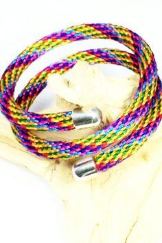 Fiber Wrap Bracelet, Fiber Wrap Cuff, Kumihimo Fiber bracelet, Kumihimo Fiber cuff, Cuff Bangle, Stack bracelet, Cuff Jewelry, colorful cuff by AbigailsPaws on Etsy $19.99