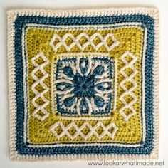 "Esme's Winter Cottage {12"" Crochet Square}:http://www.lookatwhatimade.net/crafts/yarn/crochet/free-crochet-patterns/esmes-winter-cottage-12-crochet-square/"