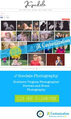 #SmugMug Site of the Week -  J Goodale Photography Northern #Virginia  #Portraits #Events Photography.  Learn more at http://www.jrcustomization.com