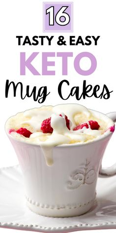 Paleo Chocolate Brownies, Keto Chocolate Mug Cake, Keto Mug Cake, Mug Cheesecake, Low Carb Cheesecake Recipe, Mug Brownie Recipes, Cake Recipes, Vanilla Mug Cakes, Mug Cake Microwave