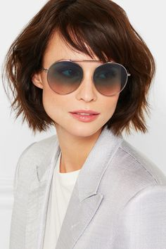 TOM FORD - Aviator-style silver-tone and acetate sunglasses 10299bc264