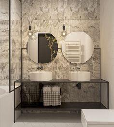 bathroom  Runde Spiegel, Waschtisch