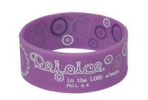 * WRISTBANDS: REJOICE  * Size: 63 x 25 mm.  @ R25-00 Each! Bible Bag, Christian Gifts, Dog Bowls, Best Gifts, Youth, Stationery, Corner, Gift Ideas, Mugs