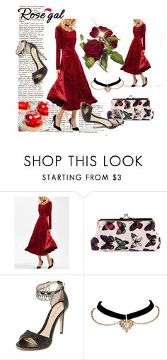 """""""# 50"""" by zijadaahmetovic ❤ liked on Polyvore featuring Monique Lhuillier"""