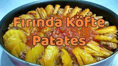Fırında Köfte Patates-Yemek Tarifleri-Oven Meatballs Recipe Merhabalar  Bugün size Ramazan sofralarında hazırlaması ve pişirmesi kolay yemek tarifi sunacağım. Fırında patates köfte tarifi iyi seyirler. Meatball Recipes, Oven, Bebe, Ovens