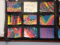 6-8th grade woven paintings