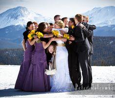 Group Hug!!! www.keystoneweddings.com #keystone, #wedding, #photography,  #portraits, Peter Holcombe Photography www.HolcombePhotography.com