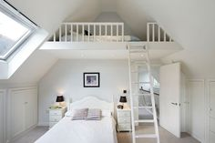 Great idea for a kids bedroom with vaulted ceilings...build a loft. teen girls bedroom ideas in Bedroom Traditional with bedroom ideas for teen boys…