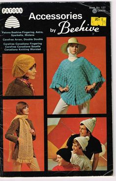 Paton's Accessories by Beehive Vintage Knit and Crochet Pattern Book by TheShoppingMoll on Etsy