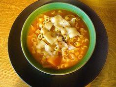 Μια σούπα για το βράδυ | SheBlogs.eu Cheeseburger Chowder, Thai Red Curry, Chowders, Ethnic Recipes, Soups, Food, Essen, Soup, Meals
