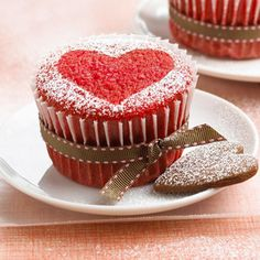 Red Velvet Sweetheart Cakes
