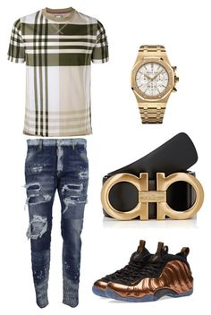 """""""Untitled #348"""" by aintdatjulian on Polyvore featuring Moncler Gamme Bleu, Dsquared2, NIKE, Salvatore Ferragamo, Audemars Piguet, men's fashion and menswear"""