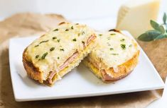 Croque-monsieur au jambon et boursin WW - Plat et Recette - Expolore the best and the special ideas about French recipes Ww Recipes, Light Recipes, Brunch Recipes, Dinner Recipes, Easy French Recipes, Cas, Breakfast Sandwich Recipes, Paleo Breakfast, French Toast Bake
