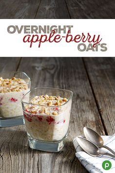 Looking for breakfast options with added nutrients to give you more energy? Plan ahead with this Overnight Apple-Berry Oats recipe. It's easy to prepare the night before to grab on your way out the door for breakfast on the go. Stop by your neighborhood Publix to pick up all the ingredients!
