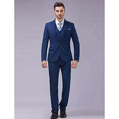 Suits+Slim+Fit+Slim+Peak+Single+Breasted+One-button+3+Pieces+Blue+–+USD+$+79.99