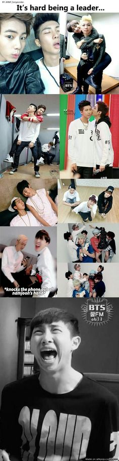 Poor Namjoon! xD all the responsibilities