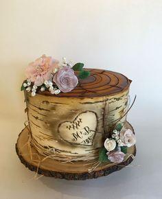 Birch Tree Stump Engagement Cake on Cake Central - torty-inšpirácie - Wedding Cakes Birch Wedding, Wedding Cake Rustic, Rustic Cake, Pretty Cakes, Beautiful Cakes, Amazing Cakes, Small Wedding Cakes, Wedding Cupcakes, Cupcake Tree