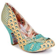OMG! I NEED THESE SHOES!!!!!   Escarpins Irregular Choice MAKE MY DAY Bleu / Jaune