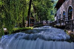 #PlavaVoda (or Blue Springs) makes #Travnik town centre a popular place to meet among locals and tourists. At the visible and accessable source of this #spring you'll find a number of cafes and restaurants. You should #visit if you are around   #likebosnia #likealocal #bosniaandherzegovina #bosnia #wanderland #wanderlust #travelgram #travelblogger #travelpic #travelblog #blogger #blog #trip #backpacking #instatravel #instatrip #instaphoto #instagramers #ourplanetdaily #natgeotravel