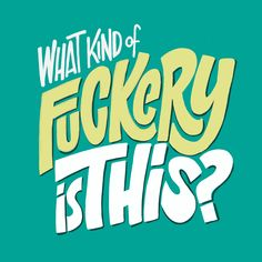 'What Kind of Fuckery Is This?'   Daily Drawing 369 Quote attributed to Amy Winehouse. #lettering