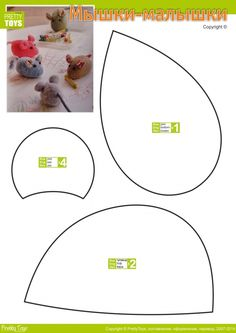 More mice, would use for cat toy pattern. Only good for pattern pieces, website is Russian.