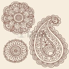 Mehndi Tattoo Flowers and Paisley