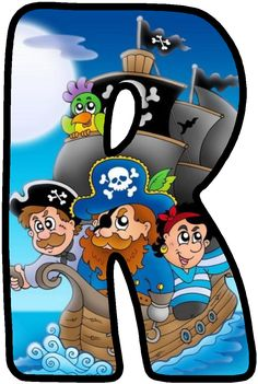 *✿**✿*R*✿**✿* H Alphabet, Alphabet Crafts, Alphabet And Numbers, Pirate Birthday, Pirate Party, Corpus Christi, Pirate Font, Bad Eggs, Letter Of The Week