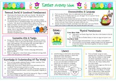 Keep the kids busy and help them to learn about Easter with this FREE activity ideas sheet! Links activity ideas to the areas of learning and development! Eyfs Activities, Earth Day Activities, Easter Activities, Educational Activities, Learning Activities, Teaching Resources, Activities For Kids, Educational Technology, Eyfs Areas Of Learning