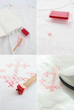 DIY: stamper un débardeur façon point de croix