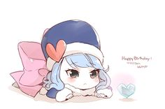 Chibi Juvia...What exactly is a chibi? I dont know but I look cute in a smaller version!