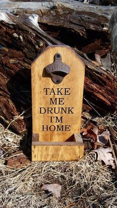 Diy Bottle Opener, Beer Bottle Opener, Beer Bottles, Wood Burning Crafts, Wood Crafts, Diy And Crafts, Wood Projects, Woodworking Projects, Craft Projects