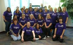 Spirit Day here at the OLPL! Here are some of our staff wearing the Library Love T-Shirt. These are available for purchase from the Circulation Desk.