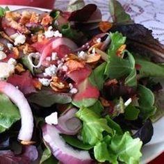 Green Salad with Cranberry Vinaigrette - Allrecipes.com