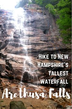 Hike to New Hampshire's tallest waterfall, Arethusa falls and visit Frankenstein Cliff and Frankenstein Trestle in Crawford Notch State Park, White Mountains, New Hampshire New Hampshire, State Parks, Frankenstein, New England Travel, Us Road Trip, Hiking Europe, Adventure Activities, Hiking Tips, Best Hikes