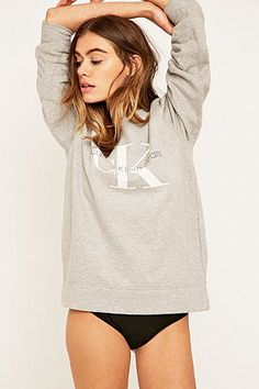 Calvin Klein Jeans – Sweatshirt in Grau