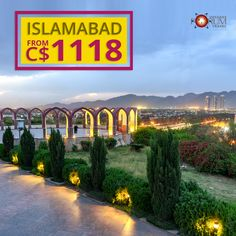 Don't miss the chance to visit Islamabad with the best flight deal offered by Forum Travels. Hurry, book your tickets now. Cheap Flight Deals, Best Flight Deals, Best Flights, Picture Letters, Hagia Sophia, And So The Adventure Begins, Famous Places, Vacation Trips, Book