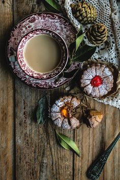 Orange and Candied Sour Cherry Linzer Flower Cookies Sour Cherry, Cuppa Tea, Food Concept, Flower Cookies, Great Pic, Coffee Time, Food Photography, Baking, Vintage
