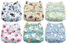 Diapering Cloth Diapers Strong-Willed Mama Koala One Size Baby Washable Reusable Pocket Cloth Diapers 6 Pack One Size