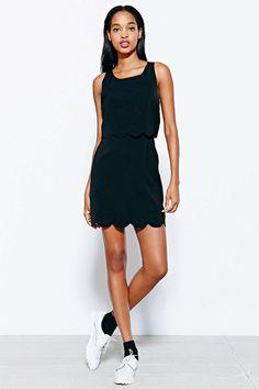 Cooperative Scallop-Edge Twofer Dress
