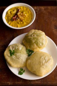bengali matar kachori – fried bread with a mild and sweet green peas stuffing. a popular bengali breakfast as well as snack.  #kachori