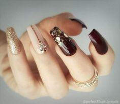 Nail art designs trendy nail art, swag nails, nails, cute nails, p Coffin Nails Long, Long Nails, Beautiful Nail Art, Gorgeous Nails, Beautiful Outfits, Matte Nails, My Nails, Acrylic Nails, Fall Nails