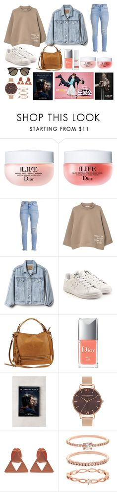 """""""APRIL FAVORITES 2017"""" by altheaklarize ❤ liked on Polyvore featuring Christian Dior, MANGO, Gap, adidas, Urban Expressions, Urban Outfitters, Olivia Burton, Accessorize and Gentle Monster"""